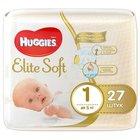 Подгузники детские одноразовые Elite Soft до 5 кг ТМ Huggies (Хаггис), 27 штук