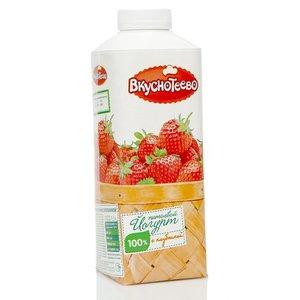 Йогурт питьевой с клубникой 1,5% ТМ Вкуснотеево