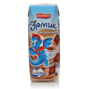 Напиток молочный со вкусом шоколада Эрмик 1,5% ТМ Ehrmann (Эрманн) обогащенный кальцием