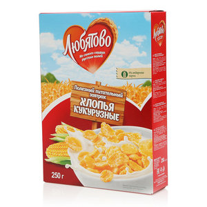 Завтрак Кукурузные хлопья ТМ Любятово