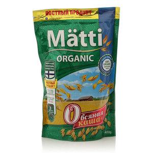Каша овсяная быстрого приготовления Органик ТМ Matti (Матти)