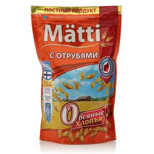 Хлопья овсяные с отрубями ТМ Matti (Матти)