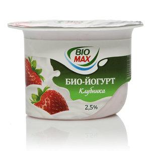 Йогурт (БиоЙогурт) клубника ТМ BioMax (БиоМакс)