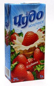 Коктейль молочный Клубника 2% ТМ Чудо