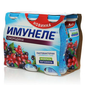 Имунеле с соком черная и красная смородина 1,2% 6*100г
