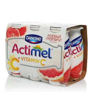 Actimel (Актимель) с грейпфрутом 2,5% 6*100г ТМ Danon (Данон)