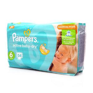 Подгузники activ baby-dry 6, 15+ кг ТМ Pampers (Памперс), 54 шт