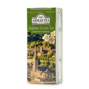 Чай зеленый листовой с жасмином  25*2г ТМ Ahmad Tea (Ахмад Тиа)