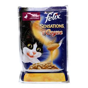 Корм для кошек Sensations с уткой в соусе с морковью ТМ Felix (Феликс)