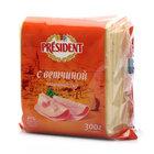 Сыр плавленый ломтики с ветчиной ТМ President (Президент) 40%