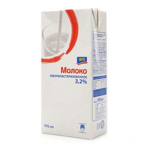 Молоко ультрапастеризованное  3,2% ТМ Aro (Аро)