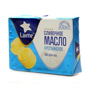 Масло сливочное Крестьянское 72,5 % ТМ Laime (Лайме)
