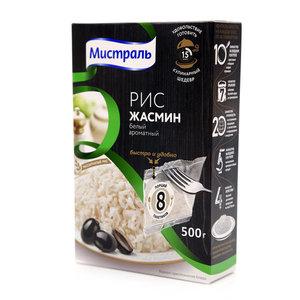 Рис ароматный длиннозерный Жасмин (в пакетах для варки) ТМ Мистраль