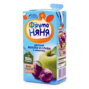 Нектар из яблок и слив для питания детей с 3-х лет ТМ ФрутоНяня