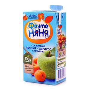 Сок из яблок и абрикосов с мякотью для питания детей с 3-х лет ТМ ФрутоНяня