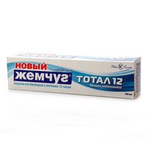 Зубная паста Новый жемчуг тотал 12+ Нежное отбеливание