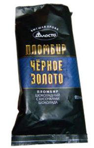 Мороженое пломбир Черное Золото шоколадный с кусочками шоколада ТМ Талосто