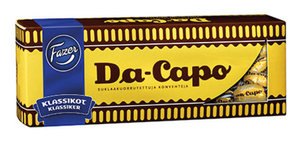 Конфеты шоколадные со вкусом рома Da-Capo ТМ Fazer (Фацер)